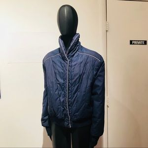Vintage 80s STRANGER THINGS style Navy Jacket Sz M